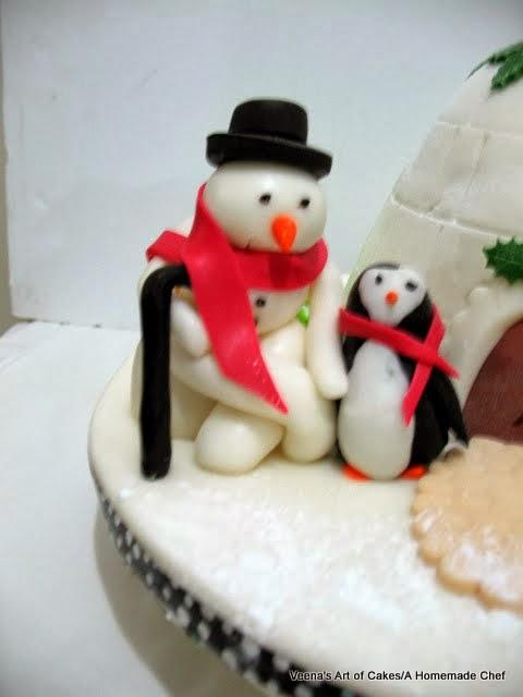 Christmas Igloo Cake - Veena Azmanov