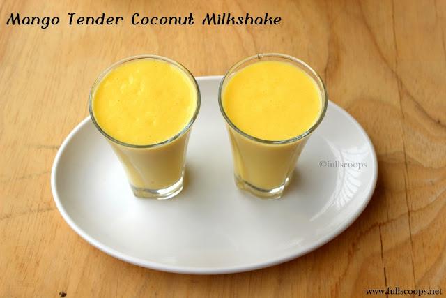 Mango Tender Coconut Milkshake