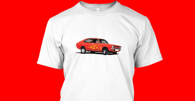 Red Morris Marina Coupé ADO28 tuning fan T-shirt