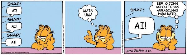 Quadrinho Garfield Humor