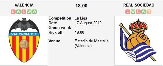 مشاهدة مباراة فالنسيا وريال سوسيداد بث مباشر بتاريخ 17-08-2019 الدوري الاسباني