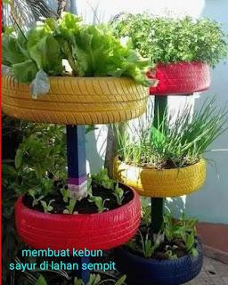 Membuat kebun sayur di lahan sempit