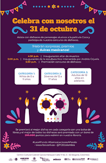 Celebra el 31 de octubre en el C. C. Gabriel Garcia Marquez