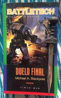 Portada del libro Duelo final, de Michael Stackpole