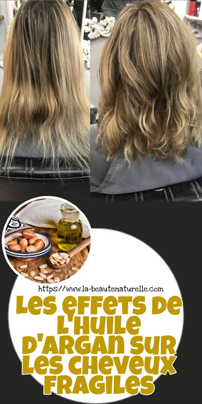 Les effets de l'huile d'argan sur les cheveux fragiles