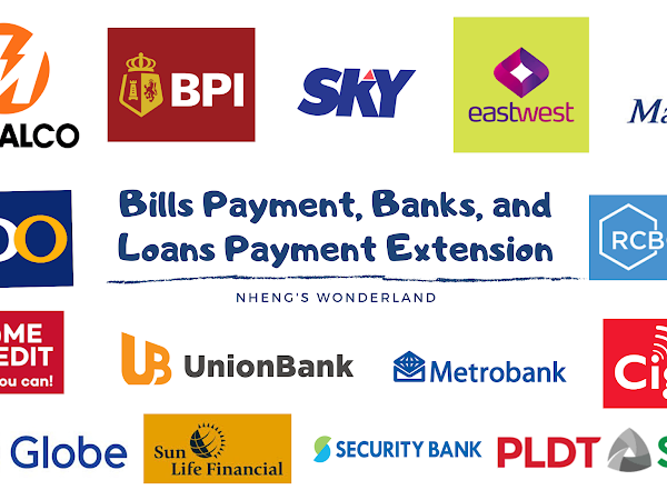 Bills Payment, Banks, and Loans Payment Extension | COVID-19 Outbreak Philippines