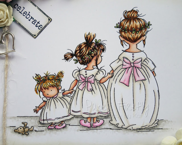 Wedding card using Bridesmaids by LOTV