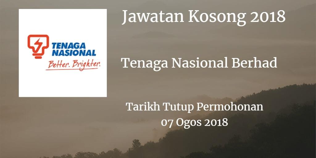 Jawatan Kosong TNB 07 Ogos 2018