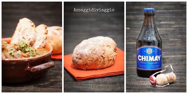 Carbonade flamande con pane integrale di segale con datteri e noci