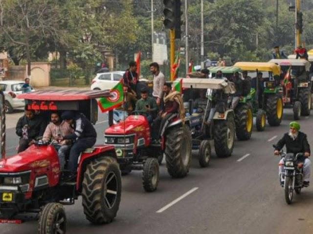 २६ जानेवारीला एक लाख ट्रॅक्टरसह शेतकऱ्यांची सलामी- दिल्लीतील रस्ते जाम