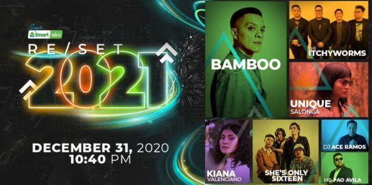 Smart's New Year countdown concert RESET 2021