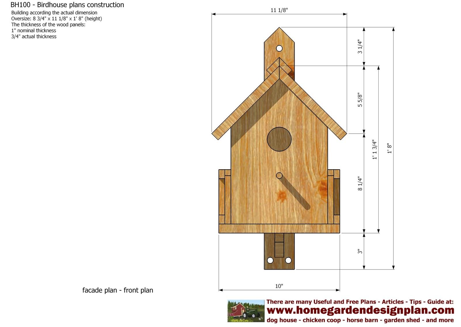 Complete Birdhouse construction plans | francois career