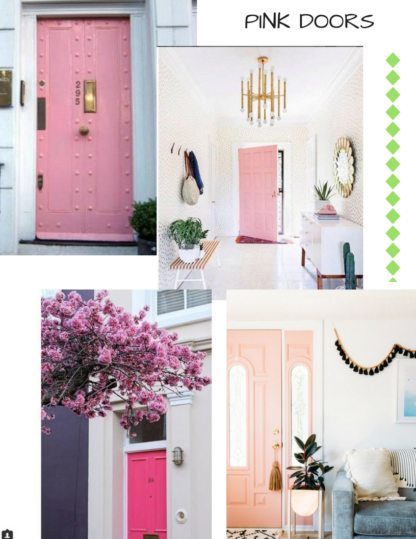 I adore the dark with the pale pink. & PINK DOORS - design indulgence