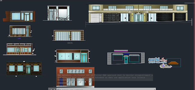 Facades local fronts in AutoCAD