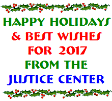 Happy holidays & best wisehs for 2017 from the Justice Center