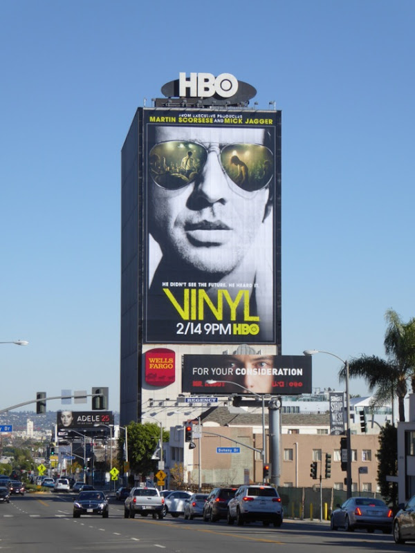 Giant Vinyl series premiere billboard Sunset Strip