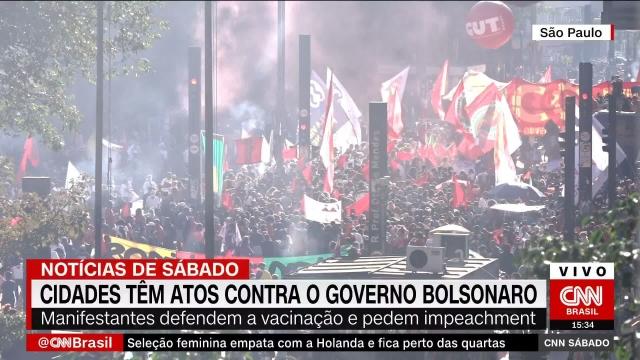 Bersatu di Ibukota, Warga Brasil Tuntut Pemakzulan Presiden Jair Bolsonaro