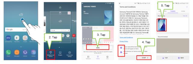 Cara Mengganti Tema Samsung Berbagai Tipe Menjadi Lebih Keren