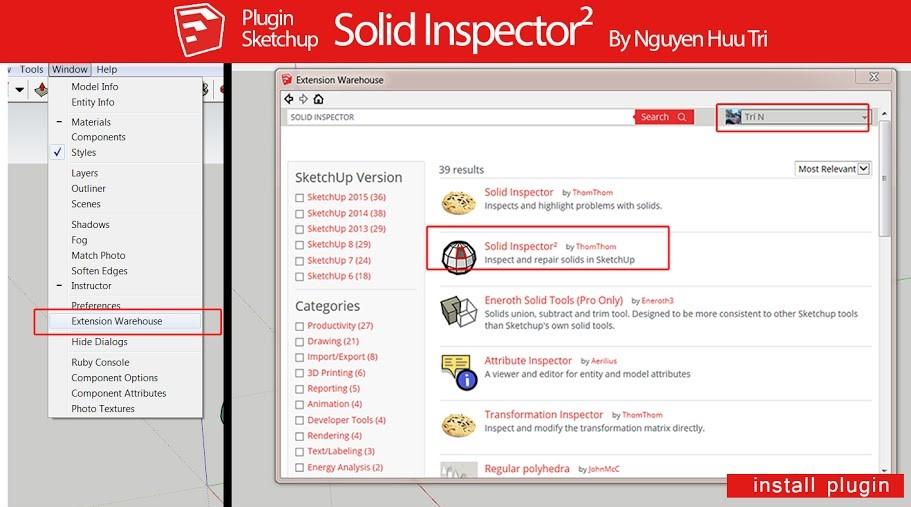 Solid Inspector 2 là một Plugin nho nhỏ mà lợi hại sửa lỗi non-solid