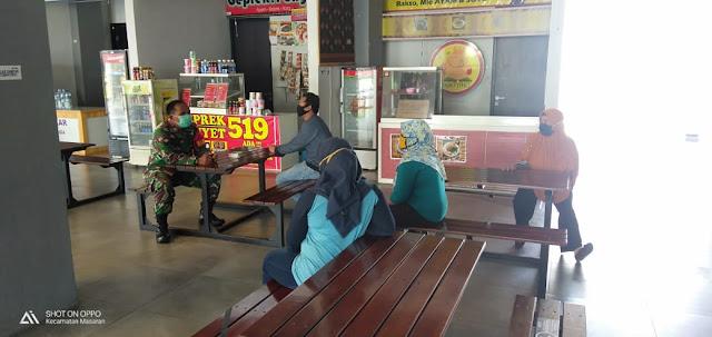 Kodim Sragen - Penjual Di Rest Area KM 519B Diminta Patuhi Soal Social Distancing