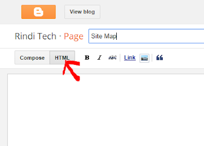 How to Add Site Map with easiest and simple way for Blogspot
