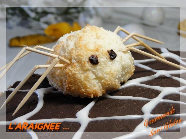 Gâteau Halloween decor araignée