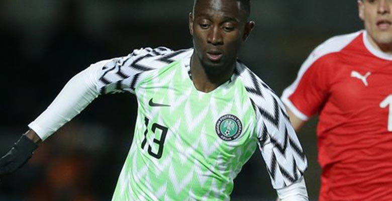6b42ae3d397 Having worn their away kit against Poland last week, Nigeria finally  debuted their Nike 2018 World Cup home jersey in the friendly against  Serbia this week.