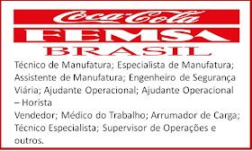 A Coca-Cola FEMSA abre vagas de emprego home office. Salários até R$9.500,00