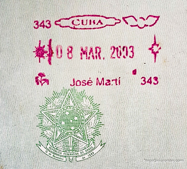 Carimbo cubano no passaporte