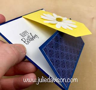 Stampin' Up! Peaceful Moments ~ Noble Peacock ~ Daisy Flap Fun Fold Card + VIDEO ~ www.juliedavison.com
