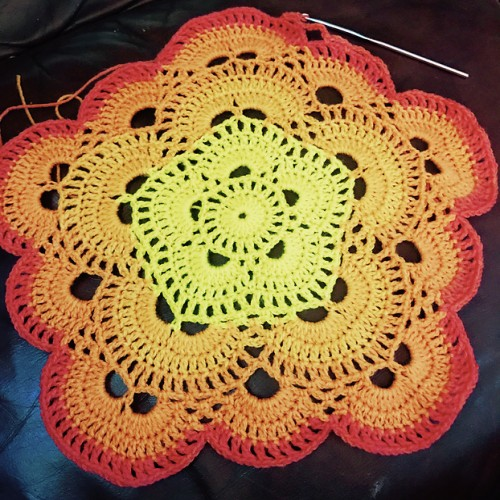 Five Sided Virus Afghan - Free Pattern