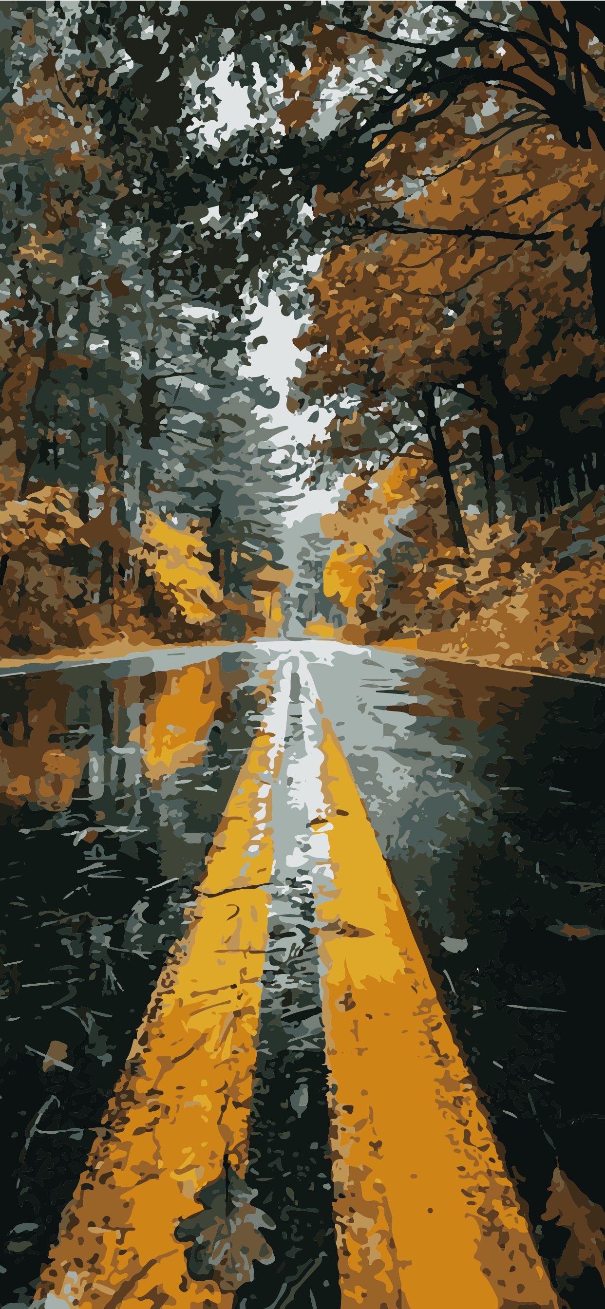 Road wallpaper background draw