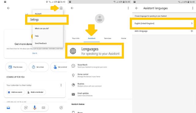 cara cara mengaktifkan google assistant