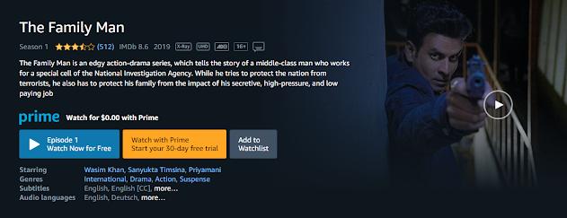 The Family Man, Hindi Web Series, The Family Man Web series In hindi