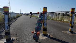 本日のスケートボード&ロングボード練習会はスライド満喫