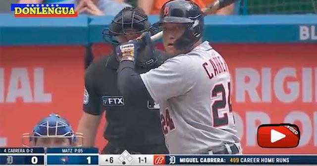 Miguel Cabrera anotó el jonrón 500 en la MLB y se convierte en leyenda