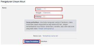Cara Buat Nama FB Kosong