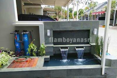 Jasa Tukang taman surabaya water wall kolam minimalis