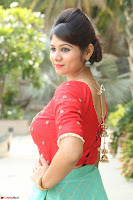 Lucky Shree Looks super cute in Bright Red Green Anarkali Dress ~  Exclusive 010.JPG