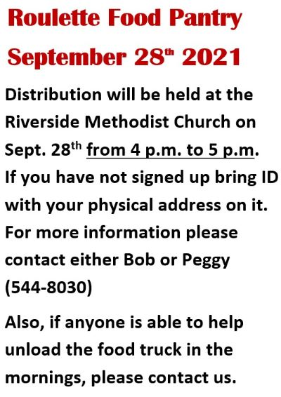 9-28 Roulette Food Pantry, Riverside Church