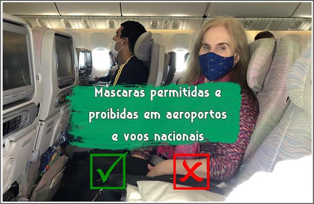 máscaras nos aviões