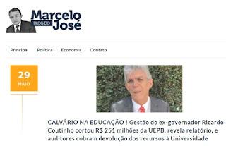 Gestão de RC cortou R$ 251 milhões da UEPB, revela relatório - e aditores cobram devolução dos recursos à instituição