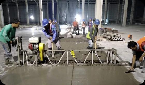 Pemakaian Vibrator pada beton
