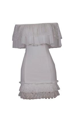 vestido curto babado - R$349,90