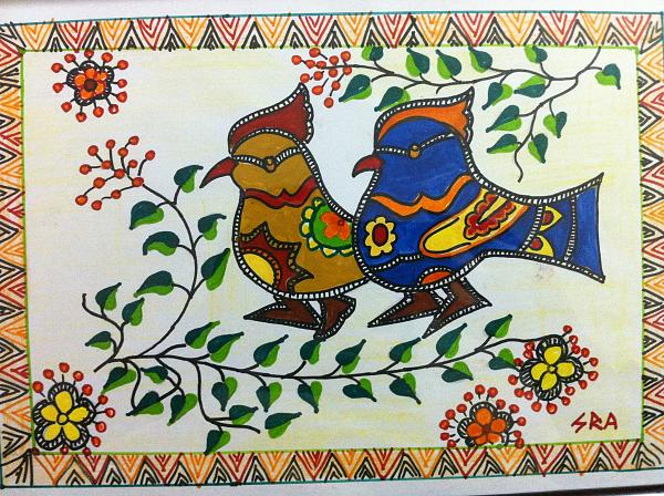 Simple Madhubani Painting Design For Beginners Madhubani Art