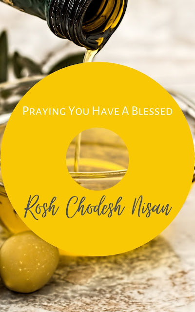 Happy Rosh Chodesh Nisan Greeting Card | 10 Free Pretty Cards | Happy New Month | First Jewish Month