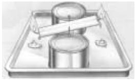 ENEM 2006: A figura ao lado ilustra uma gangorra de brinquedo feita com uma vela. A vela é acesa nas duas extremidades e, inicialmente, deixa-se uma das extremidades mais baixa que a outra.