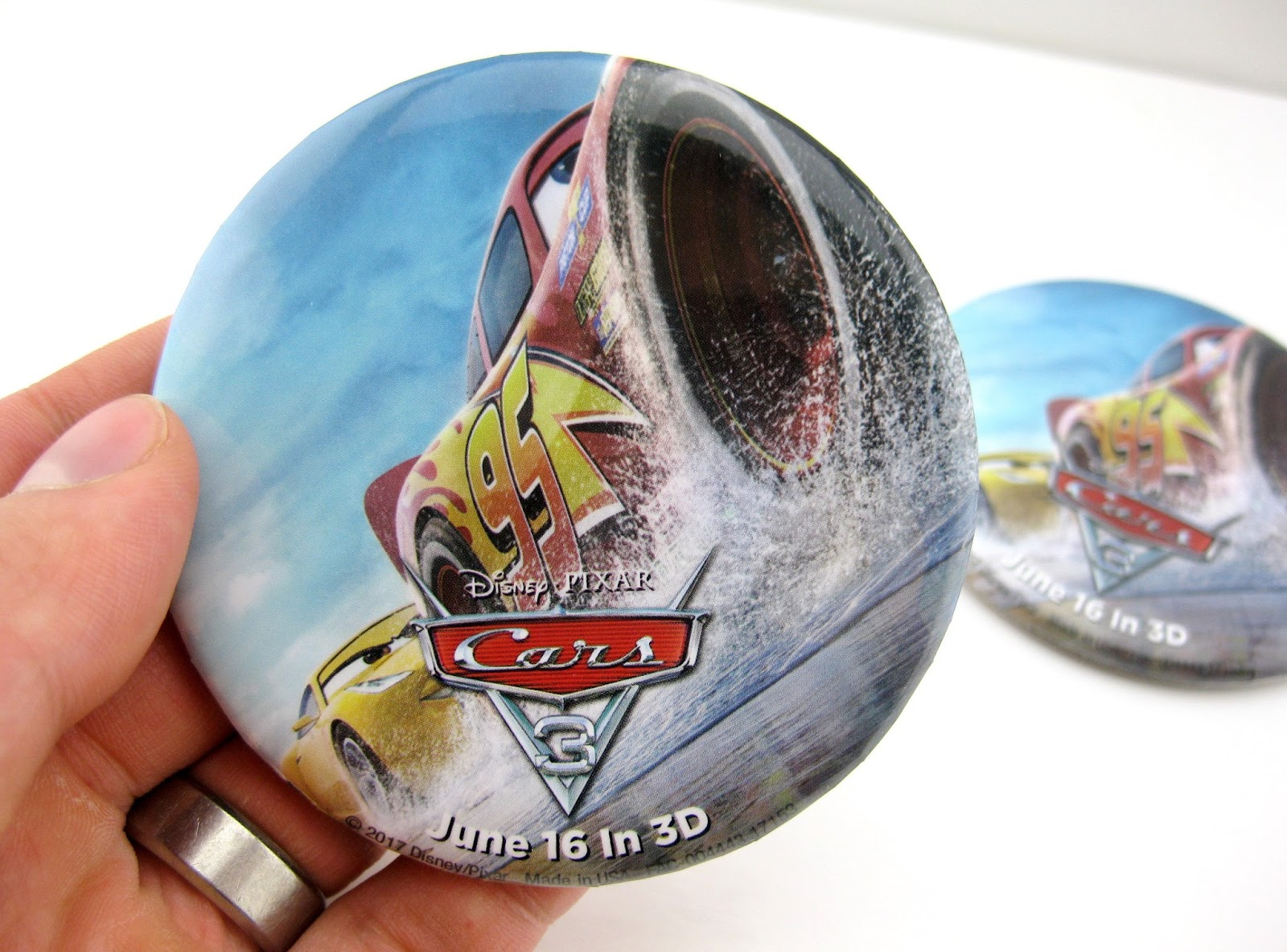 Cars 3 Disneyland Promotional Button