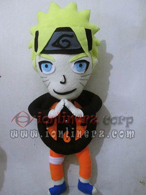 Jam Dinding Flanel Karakter Kartun Boneka Naruto