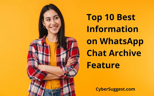 Top 10 Best Information on WhatsApp Chat Archive Feature